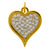 Lowell Hays Gold Plated Pave Heart Charm