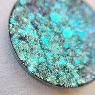 Agave green blue pressed glitter