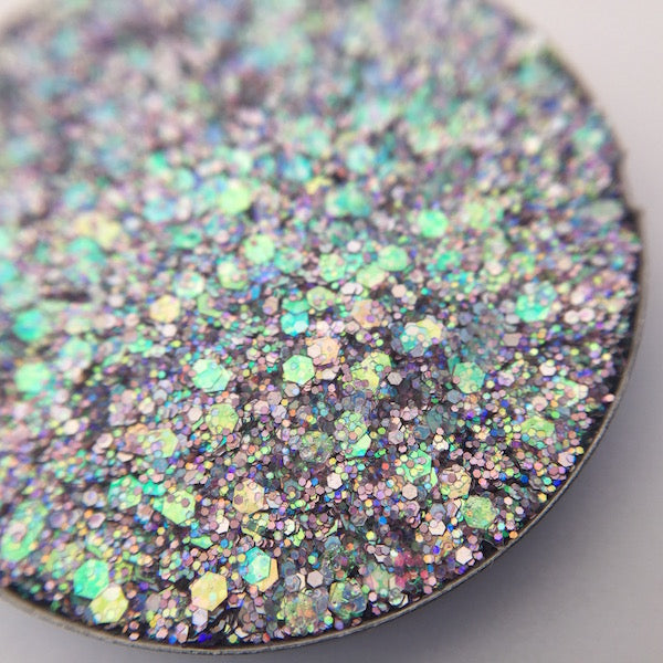 Blue Glitter, Purple Glitter, Chunky Glitter, Pressed Glitter Eyeshadow by Dear Katie Brown
