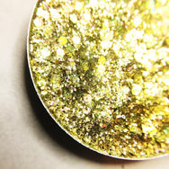 yellow gold pressed glitter eyeshadow