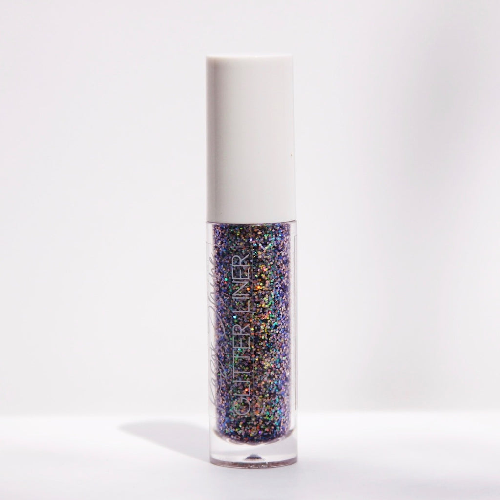 purple rainbow glitter liner