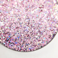 Coconuts About You pale pink and holographic pressed glitter