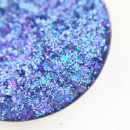 Crash blue pressed glitter