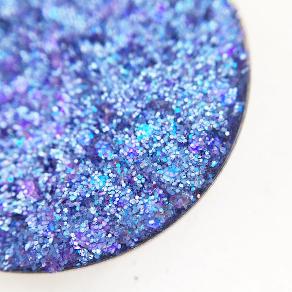 Crash | Blue and Purple Pressed Glitter Eyeshadow