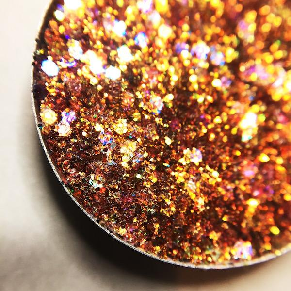 orange pressed glitter eyeshadow