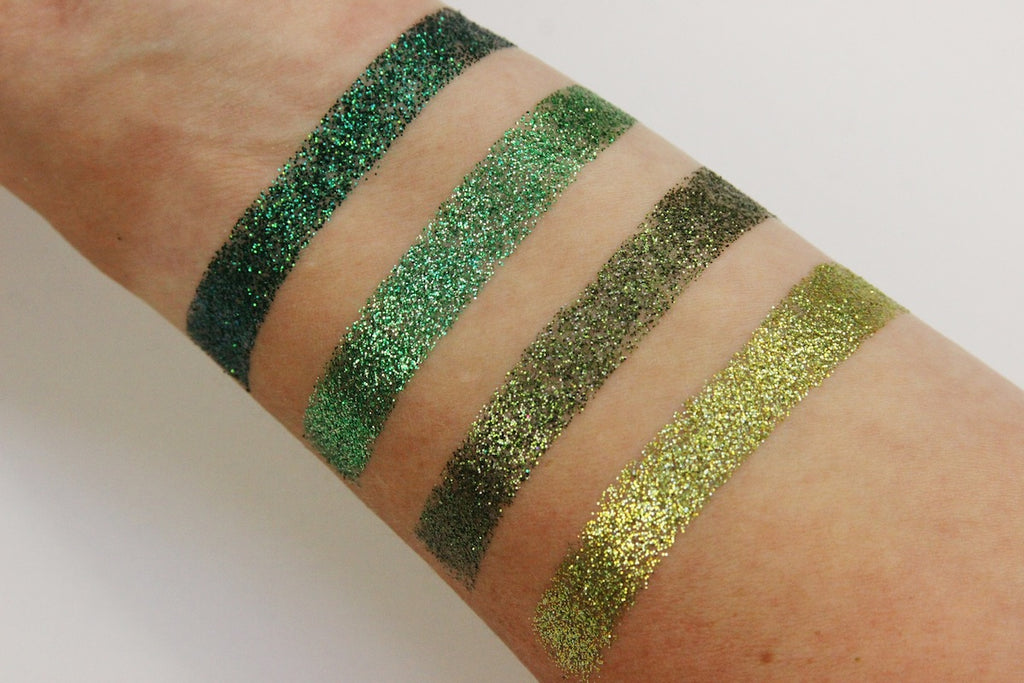 pressed glitter swatches dearkatiebrown.com