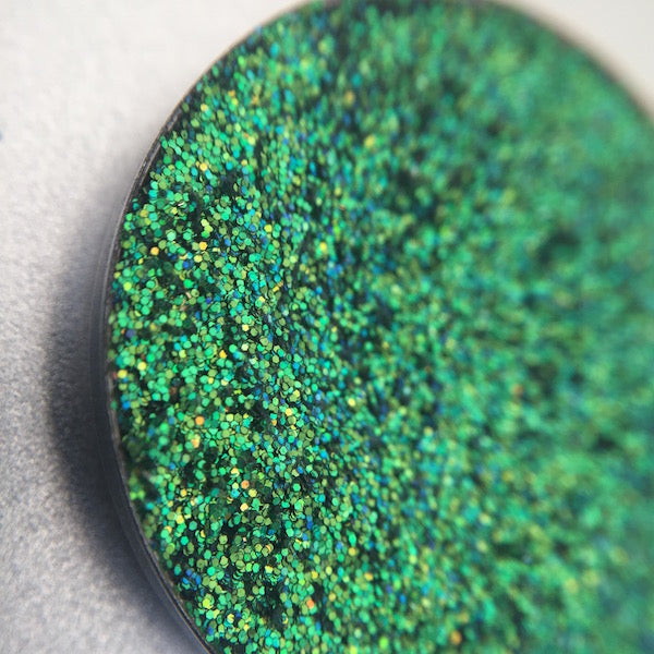 Green Pressed Glitter Eyeshadow by Dear Katie Brown