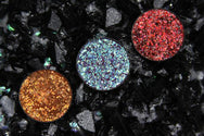 pressed glitter red glitter orange glitter purple glitter pressed glitter eyeshadow