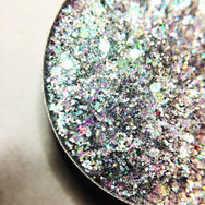 silver pressed glitter eyeshadow