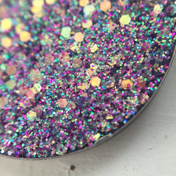 Honeymoon | Purple Rainbow Pressed Glitter