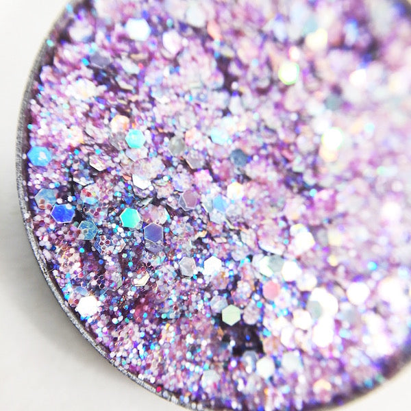 Hwin pink and violet pressed glitter