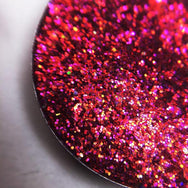 red and pink pressed glitter
