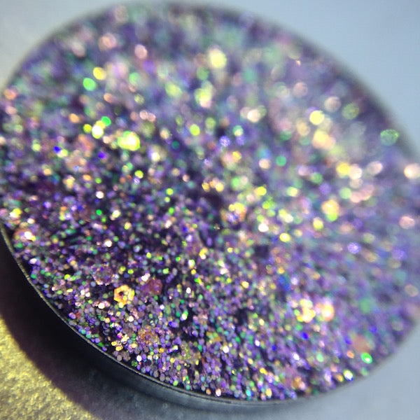 Purple Chunky Pressed Glitter Eyeshadow