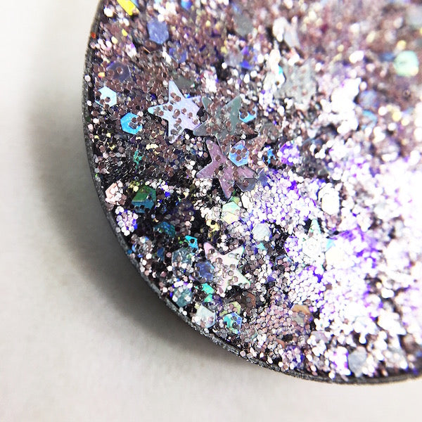 Lone Star silver pressed glitter with holographic stars