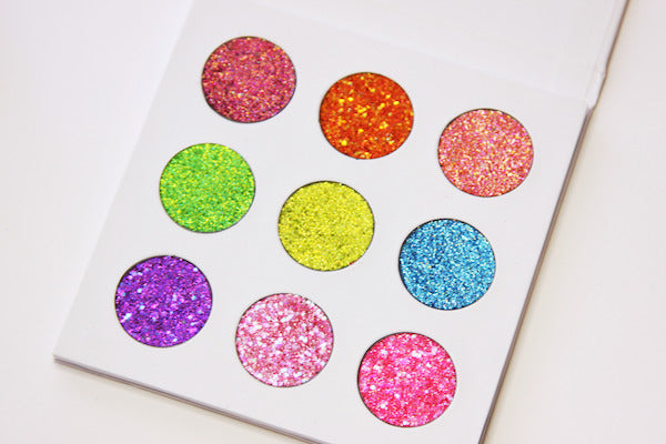 As Bright As Your Future Neon Pressed Glitter Palette by Dear Katie Brown