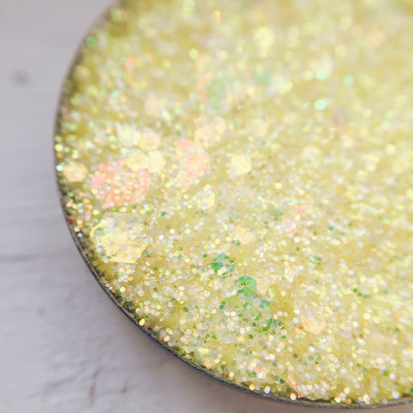 Rosebud Yellow Pressed Glitter
