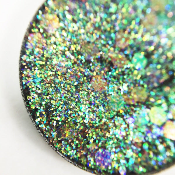 green and gold rainbow pressed glitter by dear katie brown