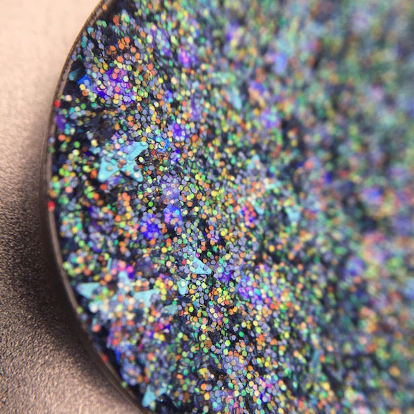 Purple Glitter Blue Glitter Pressed Eyeshadow by Dear Katie Brown