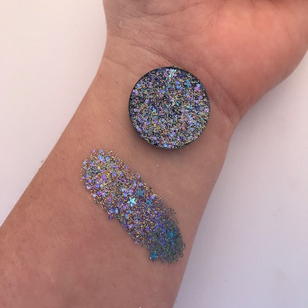 Telepathy | Blue Pressed Glitter Eyeshadow