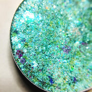 light blue pressed glitter eyeshadow