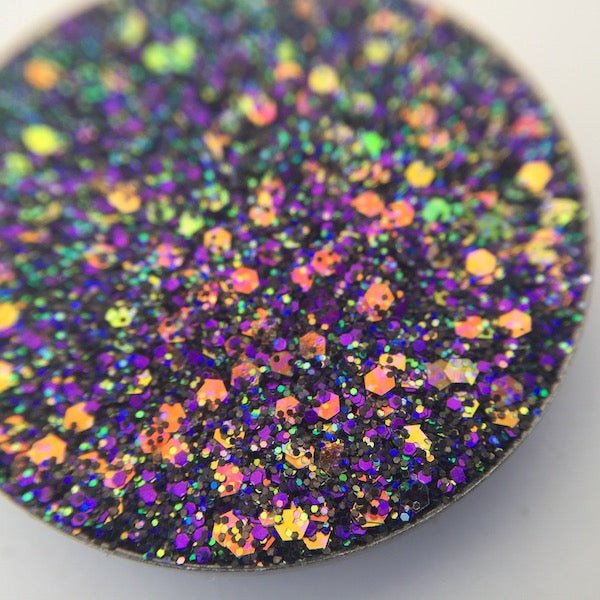 Rainbow Glitter, Purple Glitter Pressed Glitter Eyeshadow by Dear Katie Brown