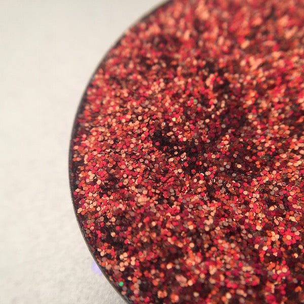 Red Pressed Glitter Eyeshadow by Dear Katie Brown