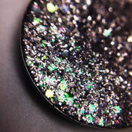silver and green pressed glitter