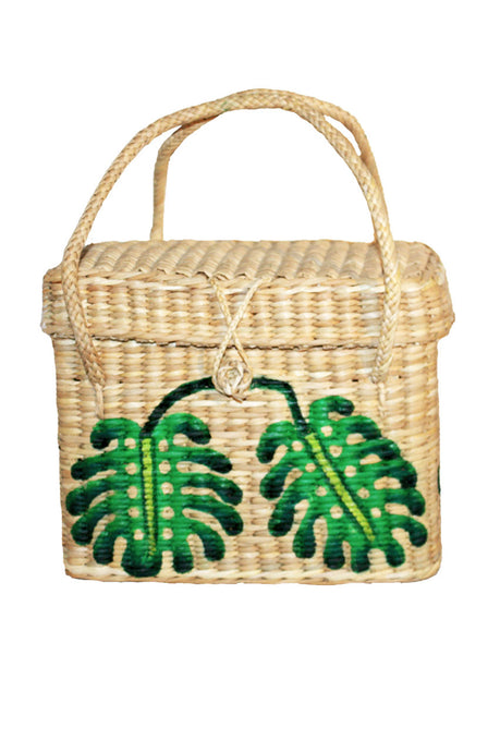 square monstera deliciosa basket