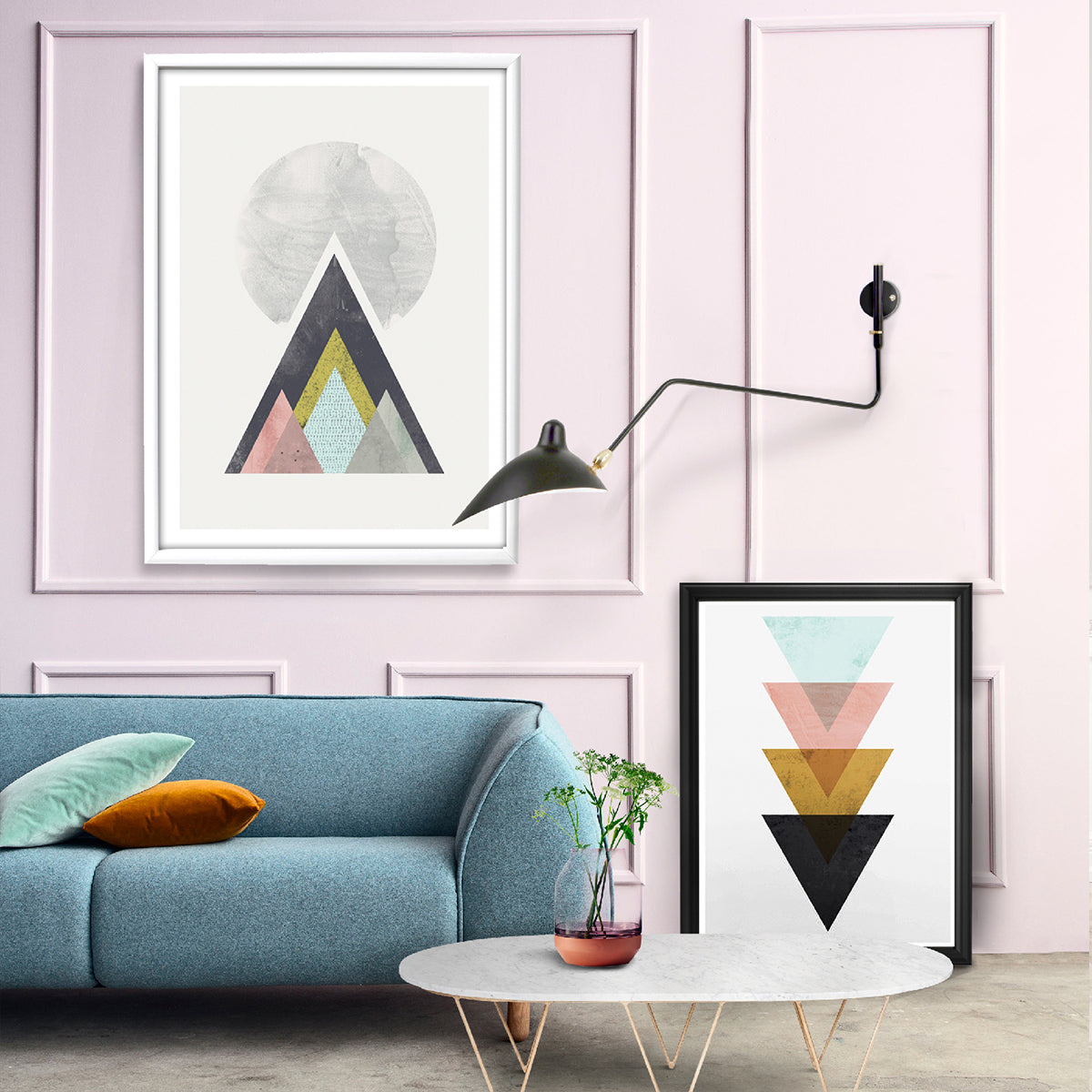 Geometric abstract prints