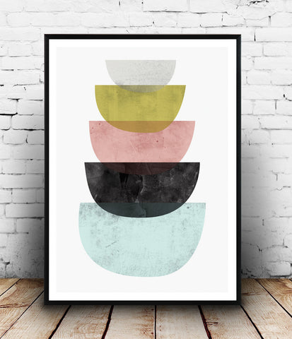 Watercolor abstract print, minimalist abstract print - Wallzilladesign