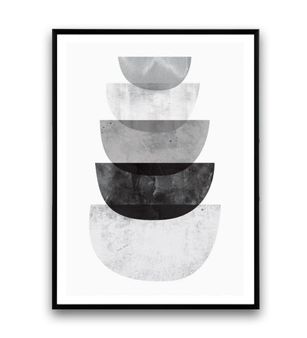 Black and white print, nordic decor, minimalist wall art - Wallzilladesign