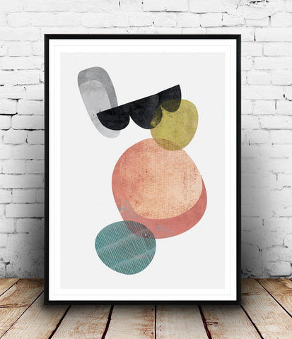 Minimalist abstract print, watercolor art, Scandinavian poster - Wallzilladesign