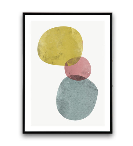 Minimalist abstract print, watercolor art, colorful wall decor
