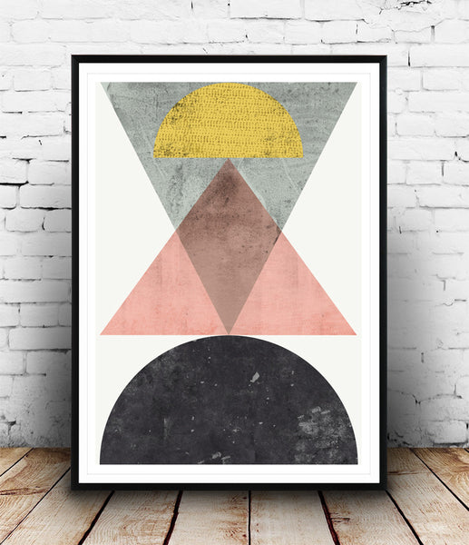 Scandinavian minimalist art, geometric print, abstract poster