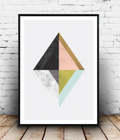 Marble abstract print, geometric design, modern wall print, minimalist art - Wallzilladesign