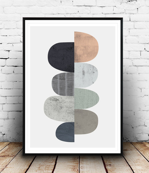 Abstract wall art, minimalist abstract print - Wallzilladesign