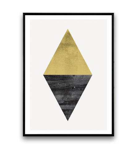 Abstract triangle shape in yellow and black