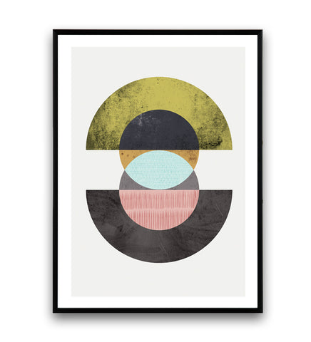 Abstract geometric circles composition