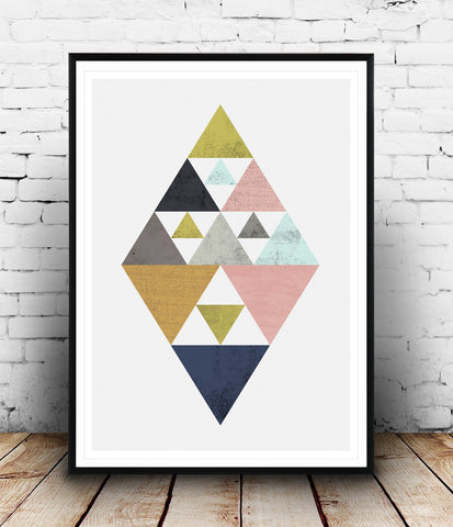 Abstract triangle geometric print