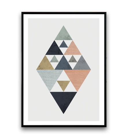 Minimalist watercolor abstract print - Wallzilladesign