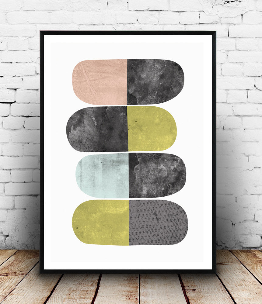 Scandinavian design abstract poster - Wallzilladesign