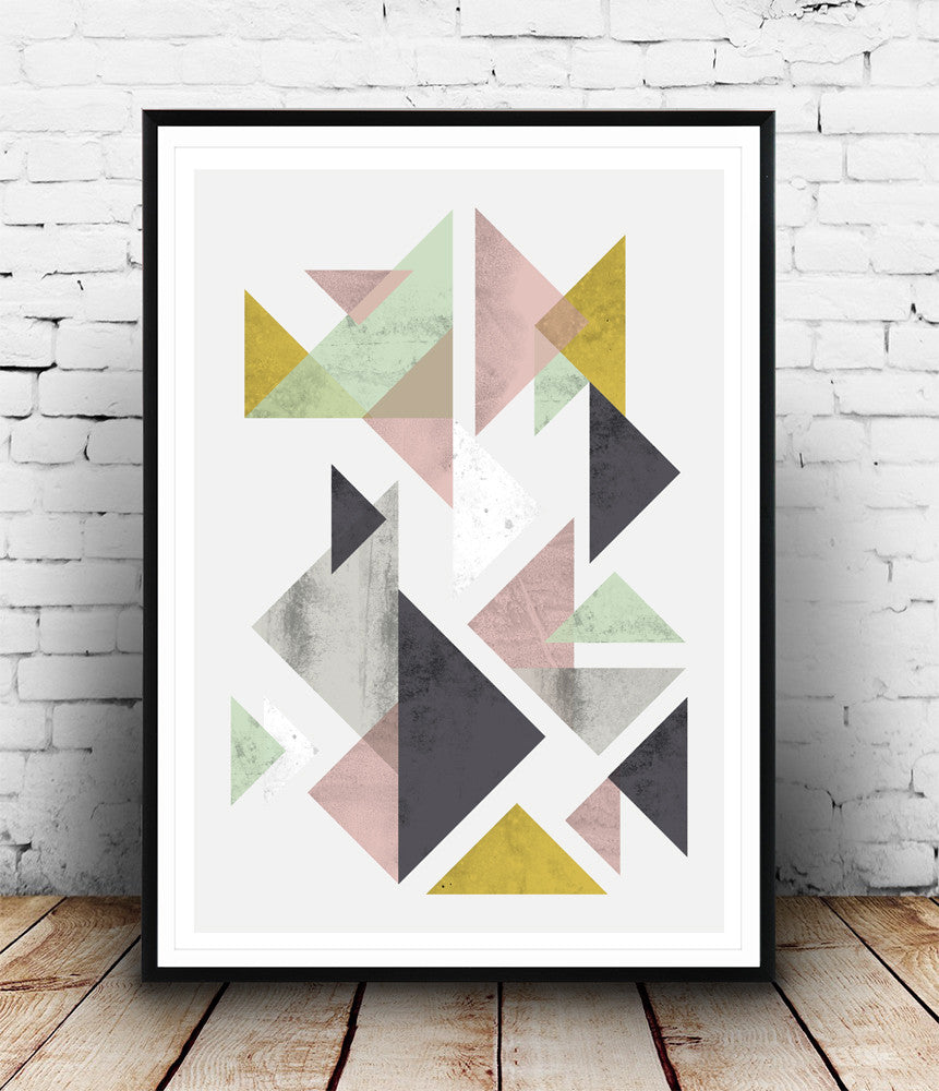 Minimalist geometric art print - Wallzilladesign