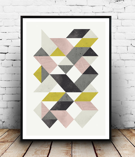 Geometric poster with abstract triangle shape