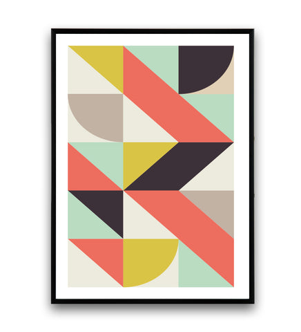 Geometric composition in modernist style - Wallzilladesign