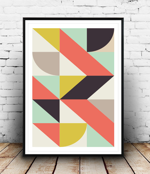 Geometric composition in modernist style