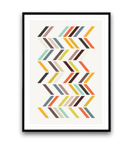 Colorful chevron print with pastel tones - Wallzilladesign
