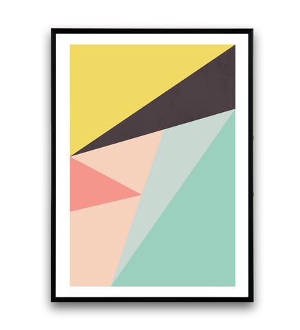 Colorful abstract composition print - Wallzilladesign