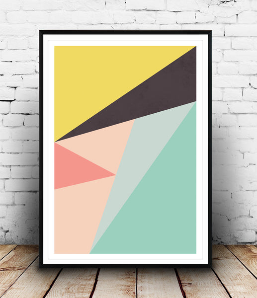 Colorful abstract composition print