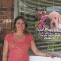 Dr. Deneen Fasano in front of her veterinary practice, Animal Healing Solutions