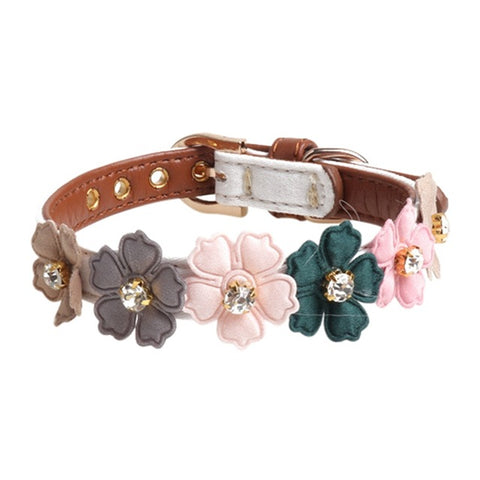 Cute Floral Adjustable Collar